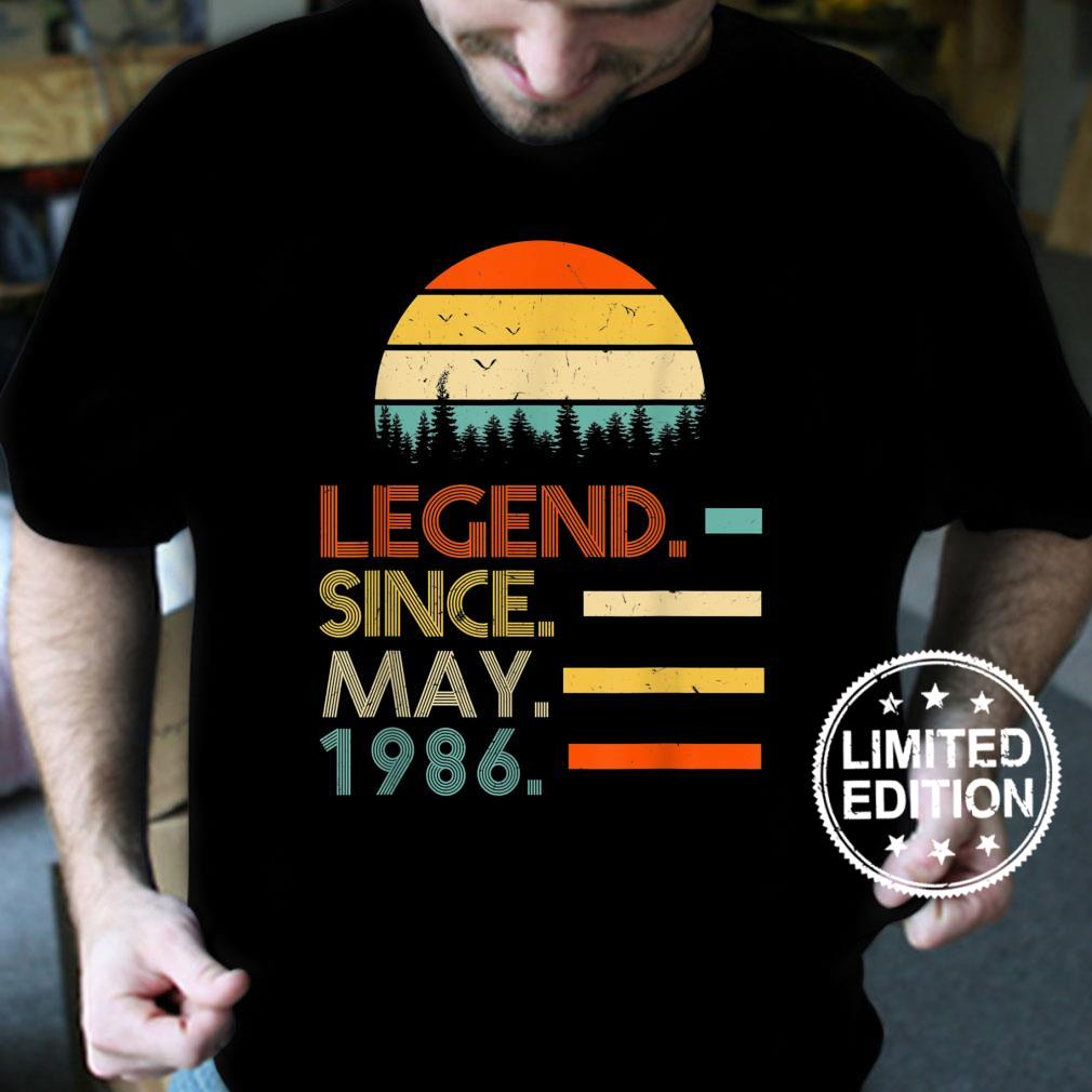 35 Years Old Retro Birthday Legend Since May 1986 Shirt