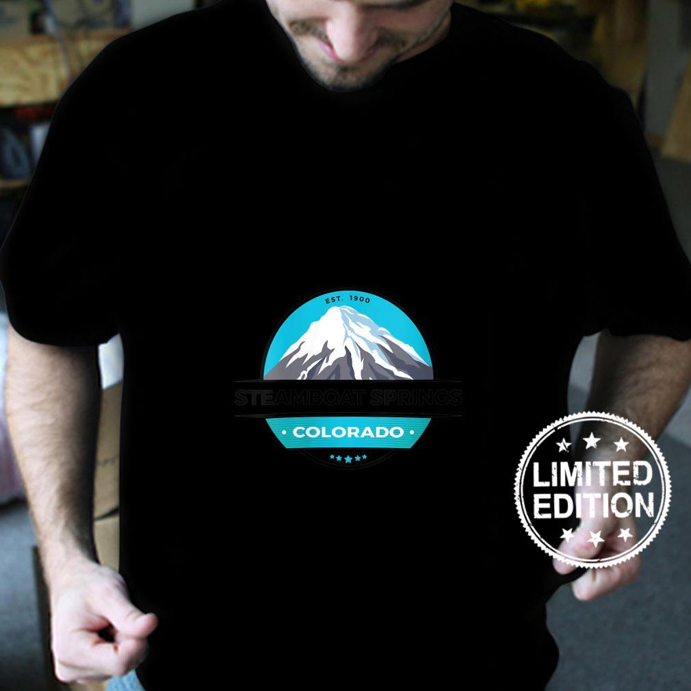 Womens Retro Cool Steamboat Springs CO Mountain Peak Snow Novelty Shirt