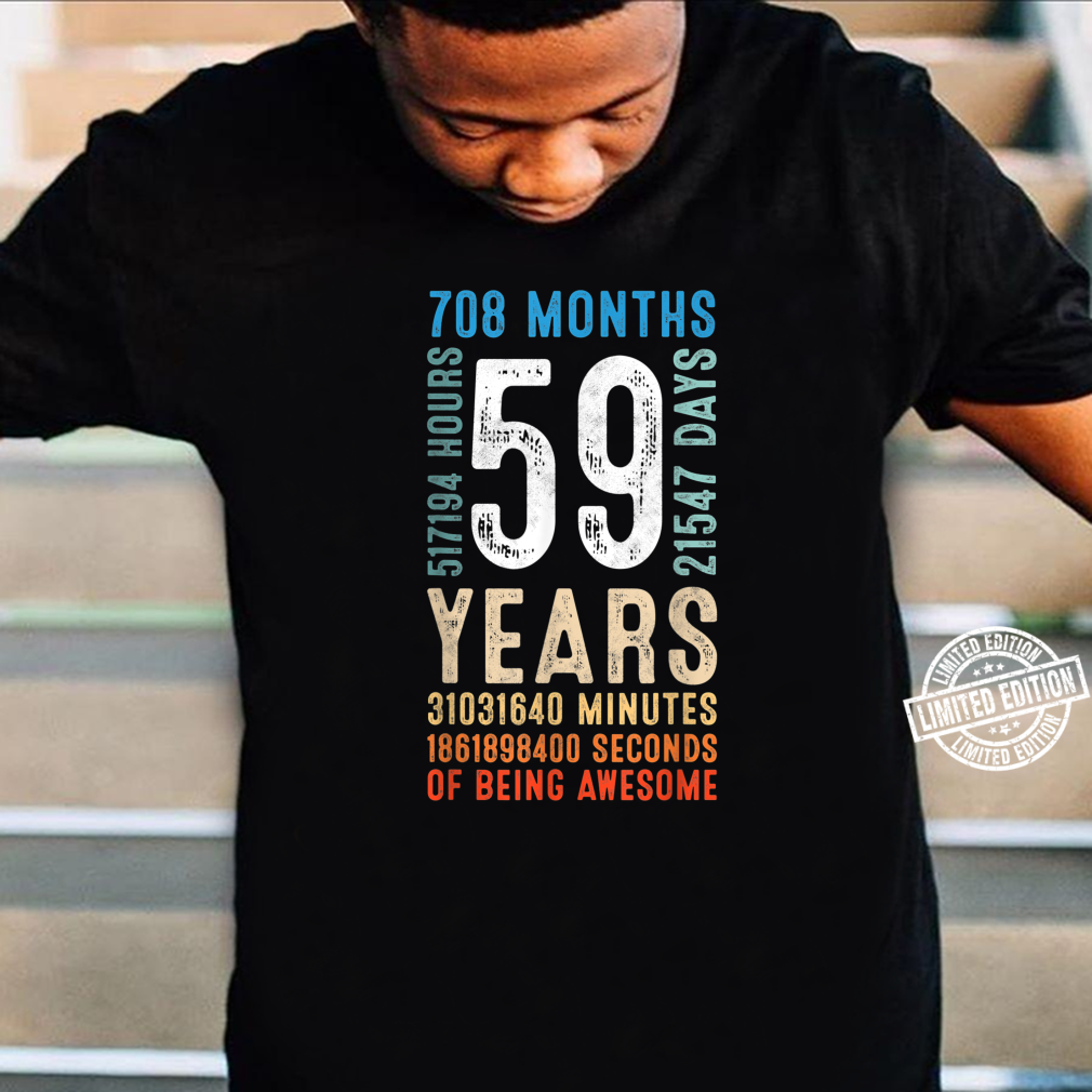 59 Years Old 59th Birthday Vintage Retro 84 Months Shirt