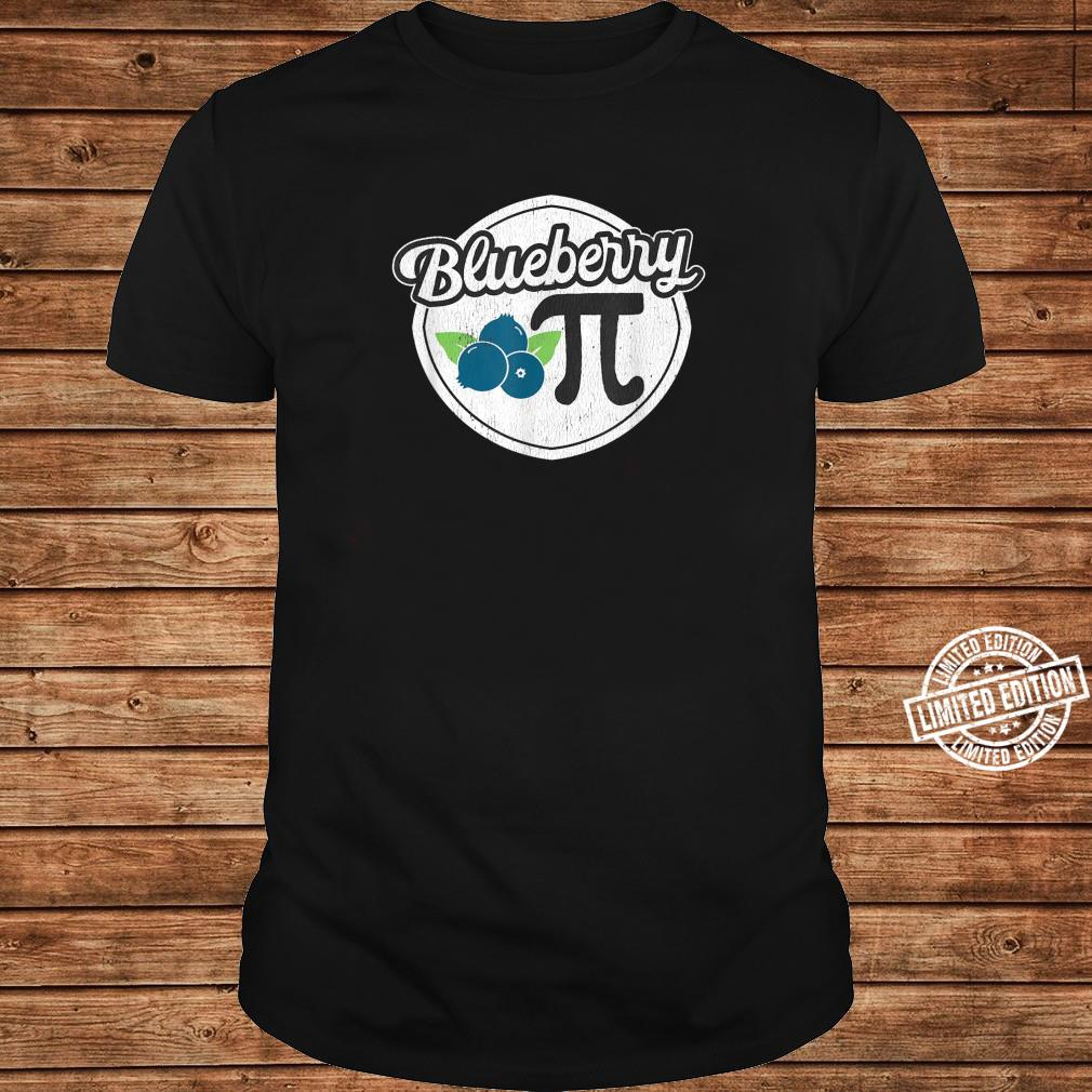 Funny Blueberry Pi Math Distressed Design Shirt long sleeved