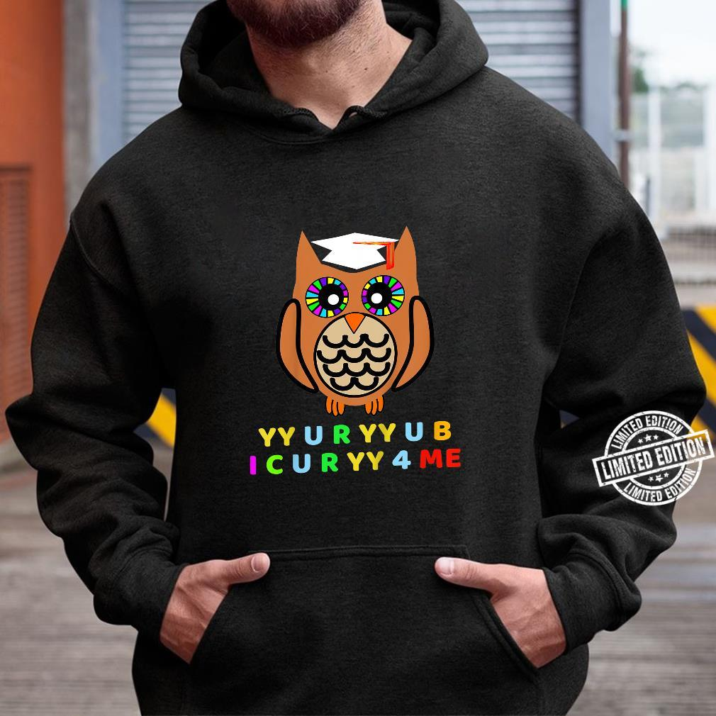 Kids Wise Owl, Novelty Owl With Hat, Too Wise Cryptic Message Shirt hoodie