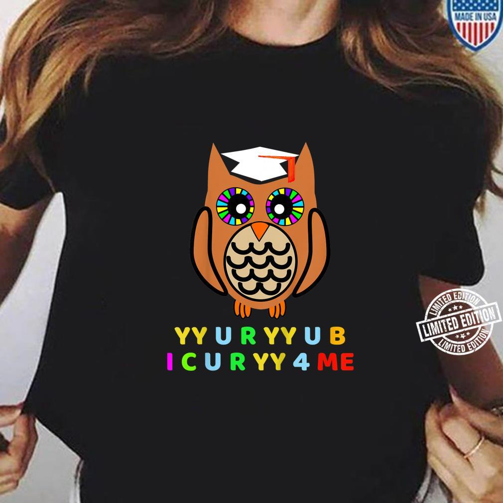 Kids Wise Owl, Novelty Owl With Hat, Too Wise Cryptic Message Shirt ladies tee