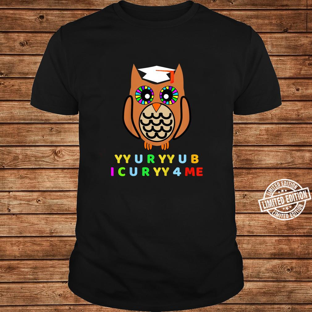 Kids Wise Owl, Novelty Owl With Hat, Too Wise Cryptic Message Shirt long sleeved